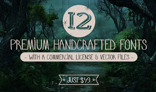 Deal of the Day: 12 Premium Handcrafted Fonts – Just $49