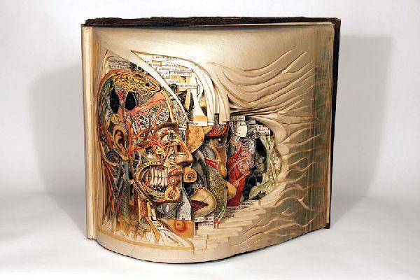 Artist of the Week: Sculptural book art by Brian Dettmer