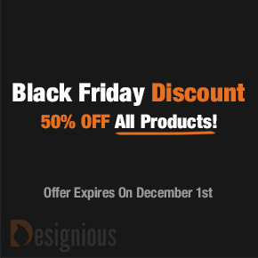 Designious' Killer Black Friday: Get Any Product This Week at Half the Price