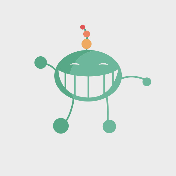 Free Vector of the Day #691: Flat Alien Vector