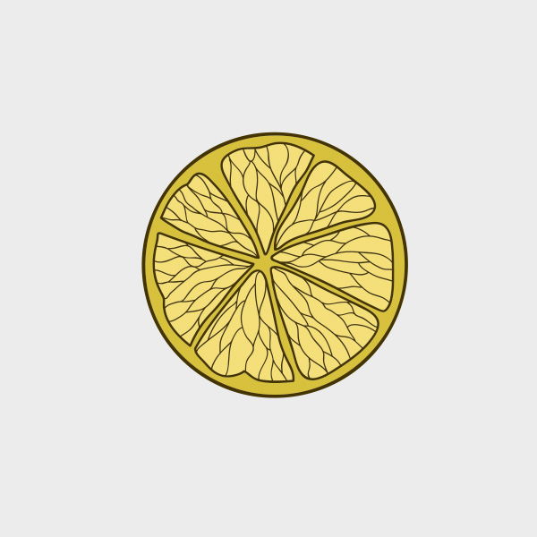 Free Vector of the Day #701: Lemon Slice Vector
