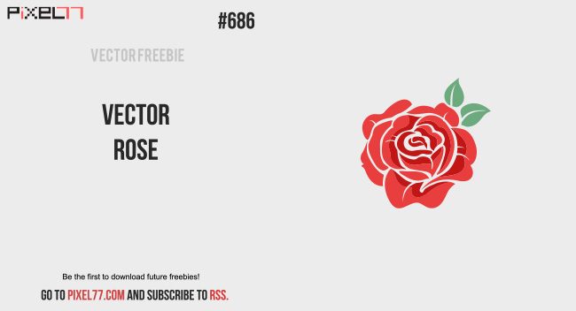 Free vector of the day 686 vector rose pixel77 download vector rose for free voltagebd Gallery