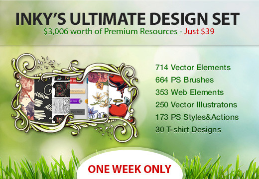 Deal of the Day: Inky's Ultimate Design Set – $3,006 worth of Premium Resources – Only $39
