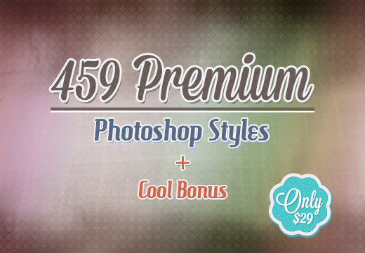 Deal of the Week: 459 Premium Photoshop Styles + Cool Bonus for Only $29 (Value $602)