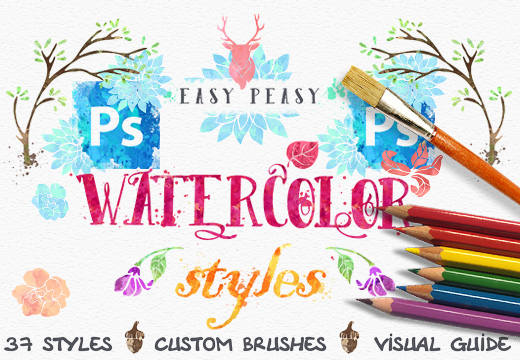 Deal of the Week: Get 37 Easy Peasy Watercolor Styles + Huge Bonus & Tutorial for Only $14