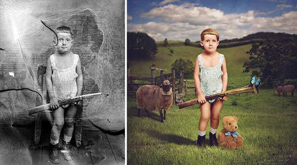 Old Glass-Plate Photos From Romania Recolored by Jane Long