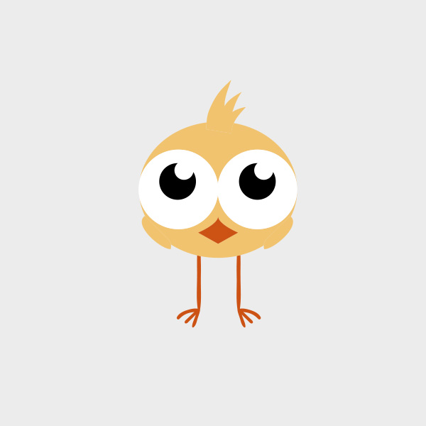 Free Vector of the Day #730: Vector Chick