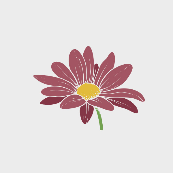 Free Vector of the Day #711: Purple Flower Vector
