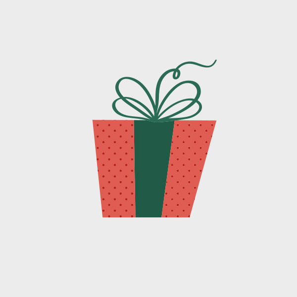 Free Vector of the Day #727: Christmas Present Vector.