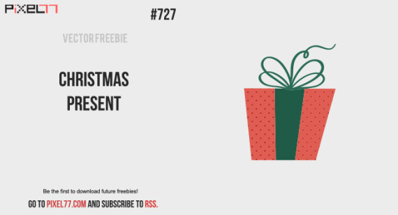 free Christmas present vector