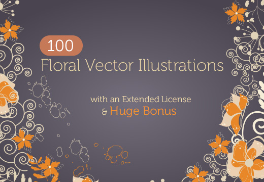 Deal of the Week: 100 Floral Vector Illustrations & Huge Bonus – Only $12