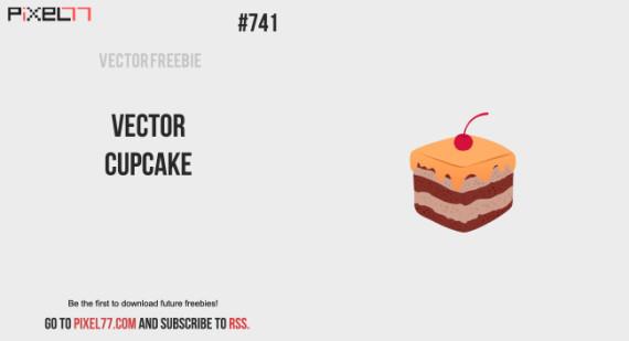 free vector cupcake