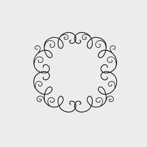 Free Vector of the Day #737: Floral Frame Vector