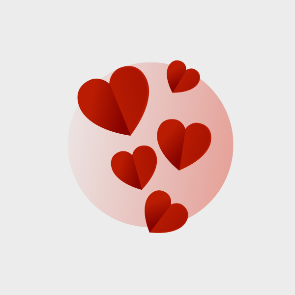 Free Vector of the Day #753: Valentine's Day Hearts