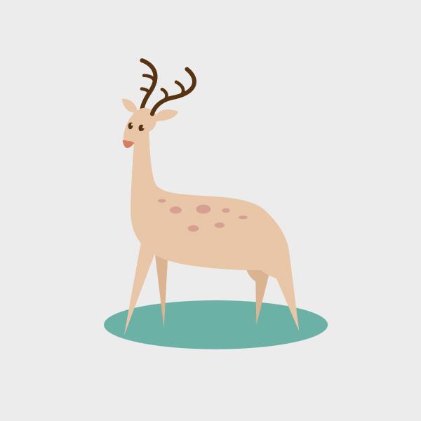 Free Vector of the Day #763: Vector Deer