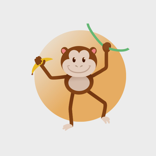 Free Vector of the Day #751: Vector Monkey
