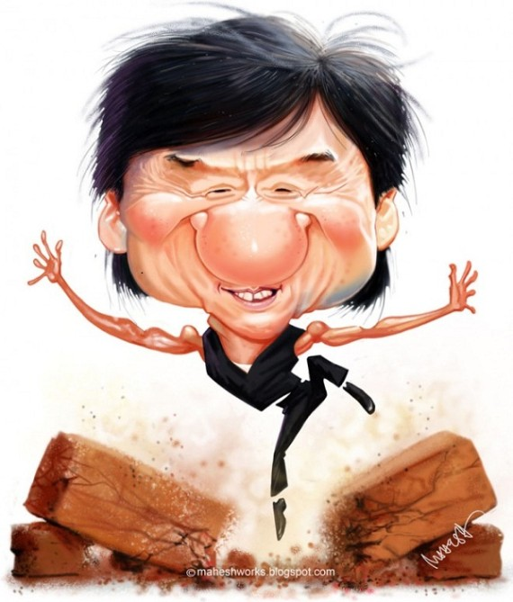 Celebrity Caricatures by Mahesh Nambiar