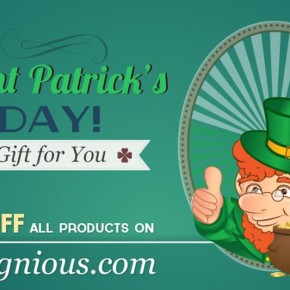A St. Patrick's Gift for You: 50% OFF All Products on Designious.com
