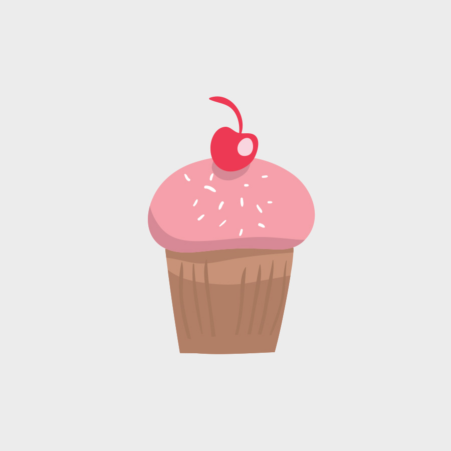 Free Vector of the Day #810: Cherry Cupcake
