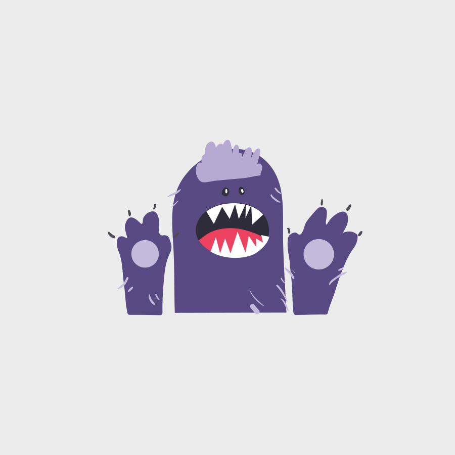 Free Vector of the Day #821: Cute Monster