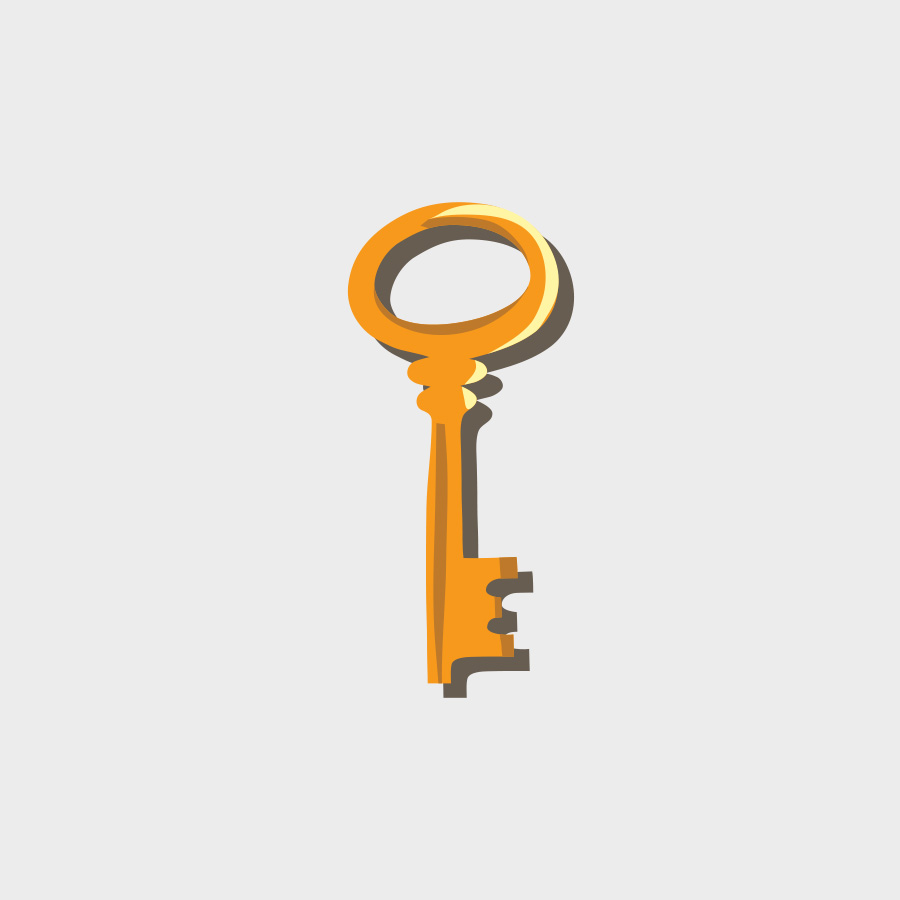 Free Vector of the Day #815: Golden Key