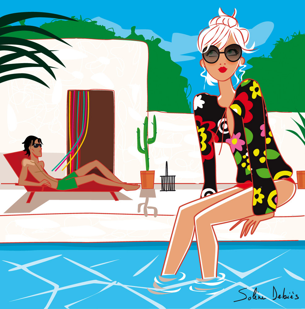 The Feminine and Empowered Illustrations of Solène Debies