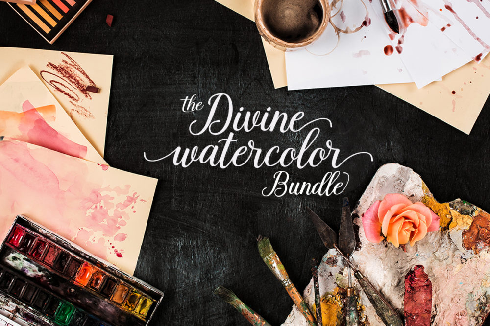 The Prettiest Watercolor Bundle with the Cheapest Price Tag from Pixelo.Net