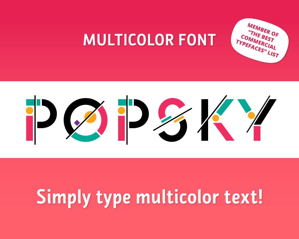 POPSKY Multicolor Font