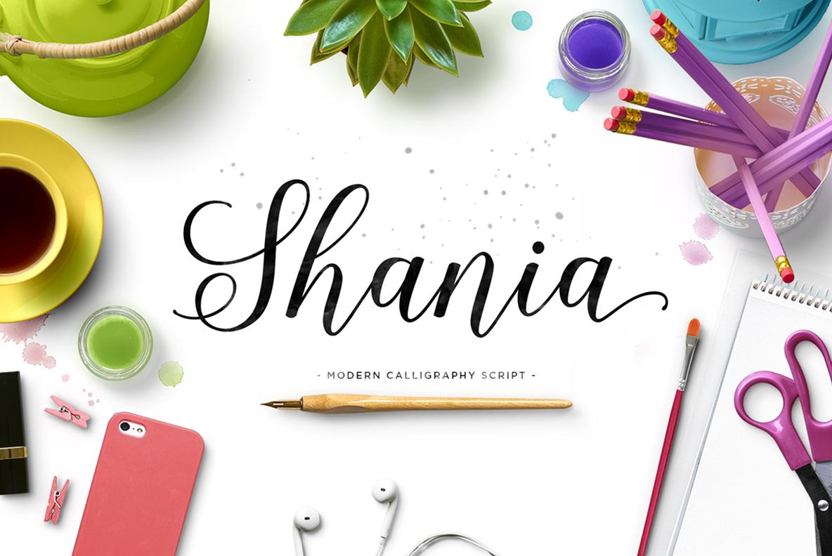 Shania Script Typeface