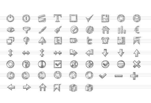 Free Vector Doodle Icon Set