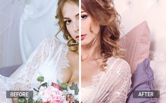 Lightroom VS Photoshop- rosa