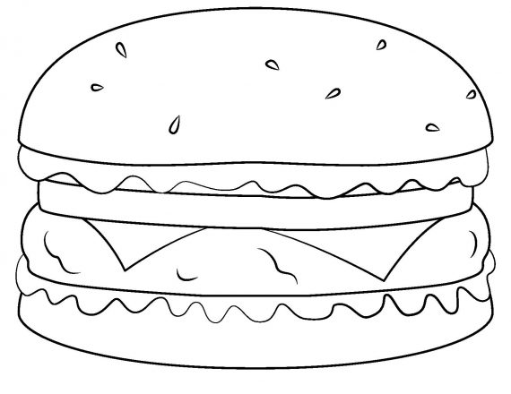 hamburger-outline-template