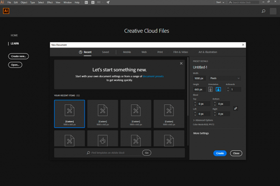 adobe illustrator built-in presets