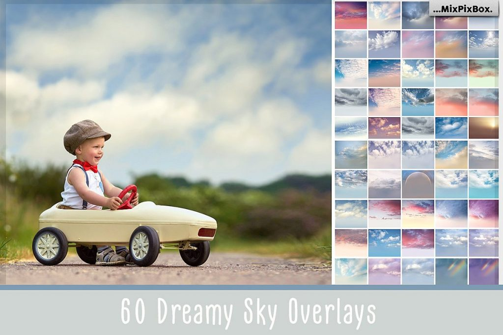 dreamy sky overlays