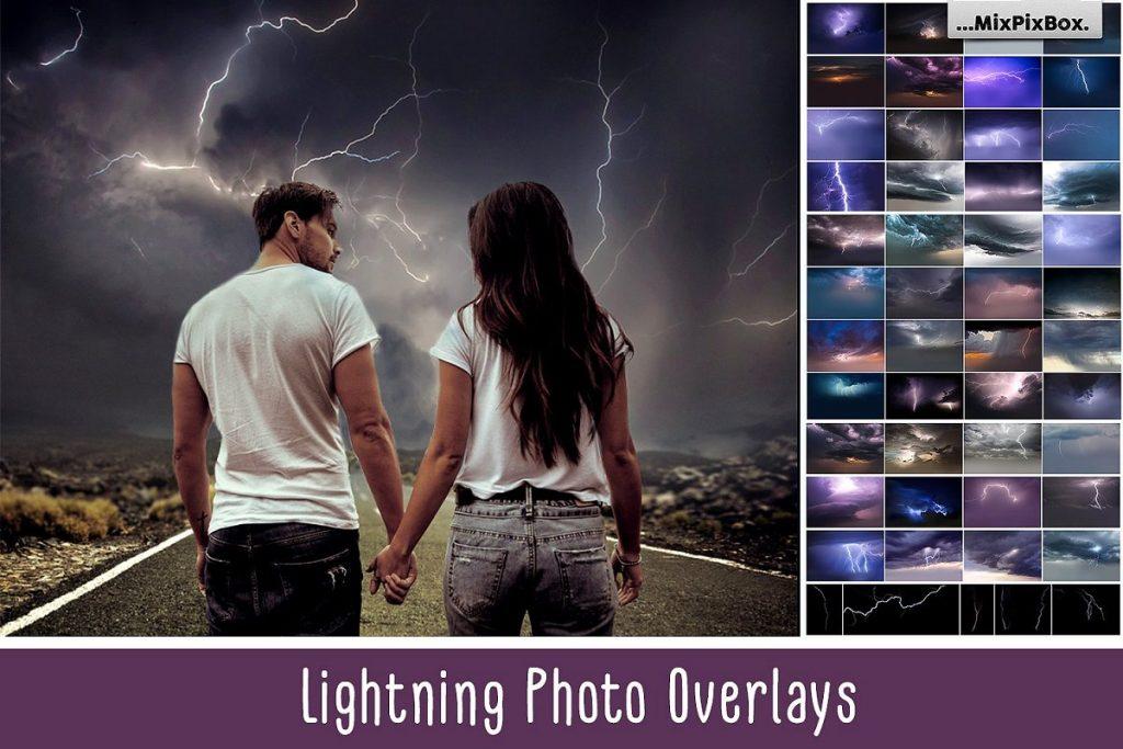 lighting sky overlays