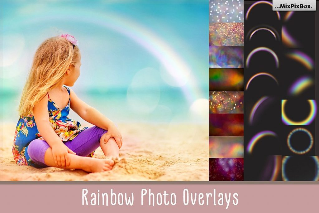rainbow sky overlays