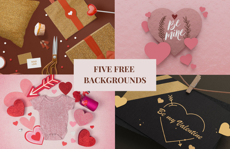 Five FREE Backgrounds To Get Your Creative Juices Flowing!