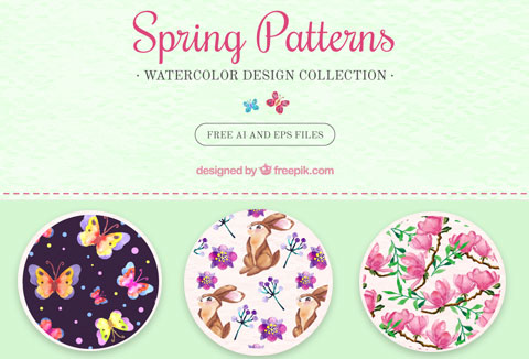 Spring Background Patterns for Free